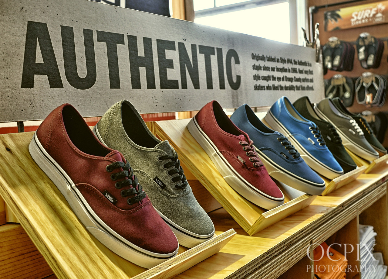 Authentic Vans display at the Vans store - US Open of Surfing