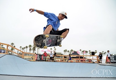 Skateboarder at the Vans US Open of Surfing
