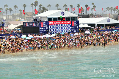 Crowds at the U.S. Open of Surfing 2013