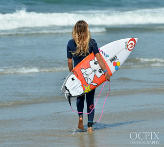 Alana Blanchard during the US Open of Surfing in Huntington Beach