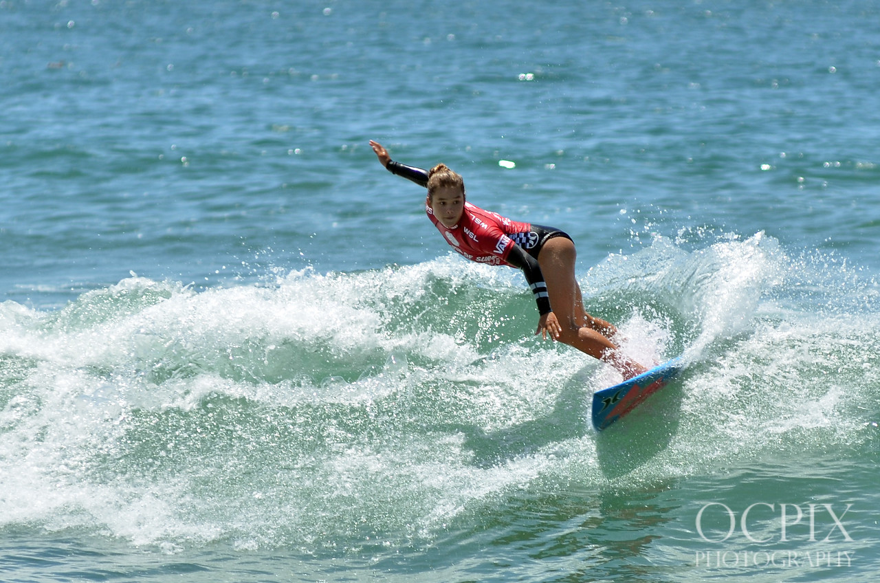 Meah Collins at the 2015 US Open of Surfing in Huntington Beach