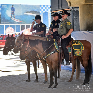 Mounted Police at the 2016 US Open of Surfing