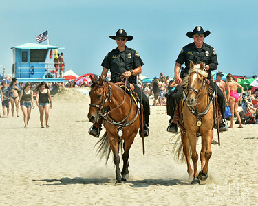 Mounted Police in Huntington Beach