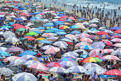 Beach Umbrellas in Huntington Beach