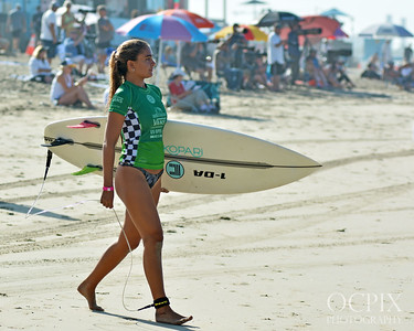 Malia Faramarzi at the 2018 US Open of Surfing