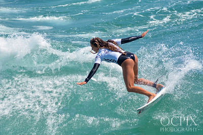 Leah Thompson at the 2019 US Open of Surfing