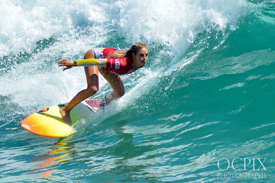 Samantha Sibley at the 2019 US Open of Surfing