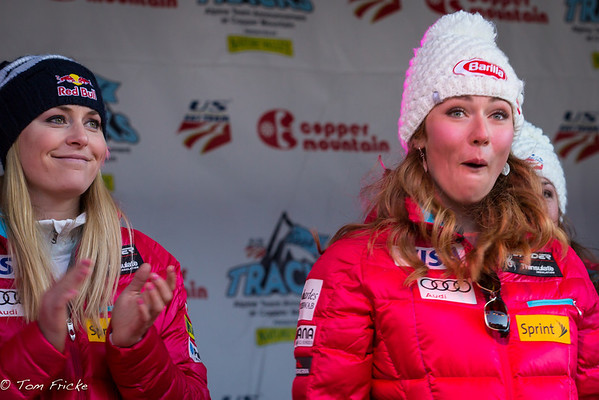 "CAPTION THIS! ""Mikaela, you've just replaced Lindsey as America's Ski Racing Sweetheart!!""  Lindsey w/Mikaela Shiffrin"