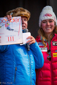 Mikaela Shiffrin was one of the few women to appear on the cover of Powder Mag