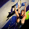 "Dana Riddle shows her skills during USA Climbing's Sport Climbing Series national championships at Movement Climbing and Fitness on Saturday, April 2, in Boulder. For more photos go to  <a href=""http://www.dailycamera.com"">http://www.dailycamera.com</a><br /> Jeremy Papasso/ Camera"