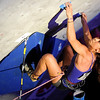 """Dana Riddle shows her skills during USA Climbing's Sport Climbing Series national championships at Movement Climbing and Fitness on Saturday, April 2, in Boulder. For more photos go to  <a href=""""http://www.dailycamera.com"""">http://www.dailycamera.com</a><br /> Jeremy Papasso/ Camera"""