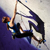 """Paige Claassen shows her skills during USA Climbing's Sport Climbing Series national championships at Movement Climbing and Fitness on Saturday, April 2, in Boulder. For more photos go to  <a href=""""http://www.dailycamera.com"""">http://www.dailycamera.com</a><br /> Jeremy Papasso/ Camera"""