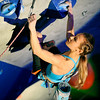 "Sasha DiGiulian shows her skills during USA Climbing's Sport Climbing Series national championships at Movement Climbing and Fitness on Saturday, April 2, in Boulder. For more photos go to  <a href=""http://www.dailycamera.com"">http://www.dailycamera.com</a><br /> Jeremy Papasso/ Camera"