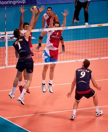 USA Men's VB vs. Puerto Rico, 2 July 2011
