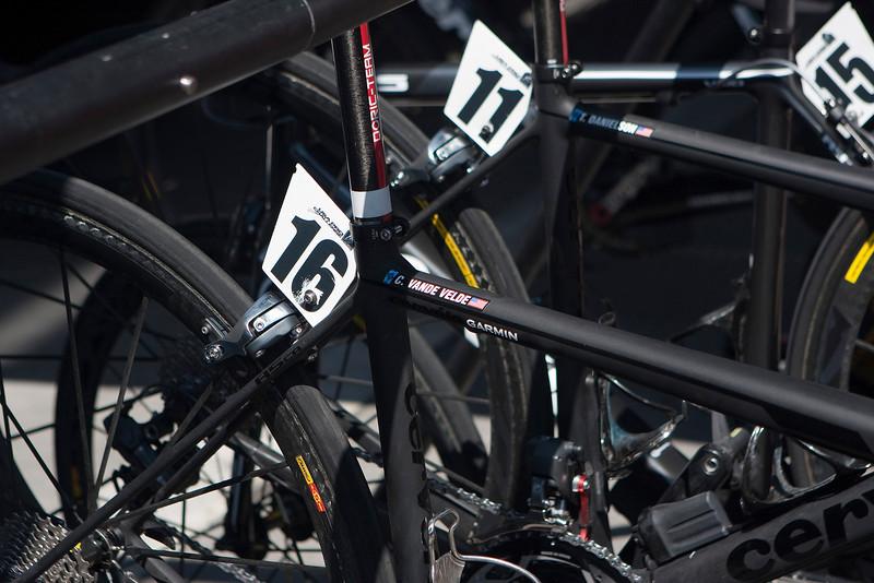 Christian Vande Velde's bike - the race winner