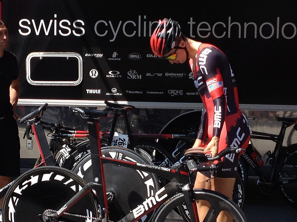 Taylor Phiney - winner of the day's stage.  Average speed - 32.7 mph!