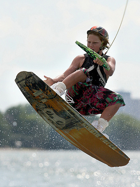 E.L. Hubbard Photography<br /> Noah Flegel competes in the 11th USA Wakeboard National Championships at Eastwood MetroPark in Dayton Friday, July 31, 2009.