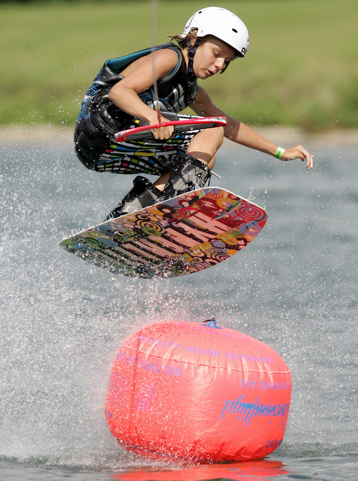 E.L. Hubbard Photography<br /> Gus Shuler competes in the 11th USA Wakeboard National Championships at Eastwood MetroPark in Dayton Friday, July 31, 2009.