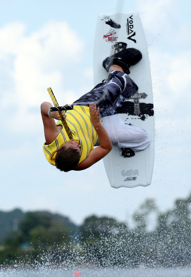 E.L. Hubbard Photography<br /> Zach Brown competes in the 11th USA Wakeboard National Championships at Eastwood MetroPark in Dayton Friday, July 31, 2009.