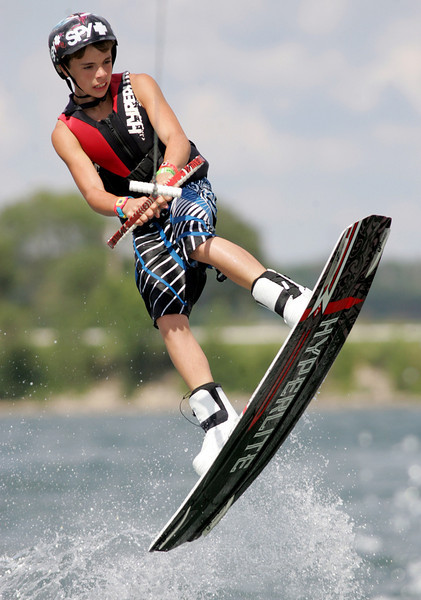 E.L. Hubbard Photography<br /> Landon Kasey competes in the 11th USA Wakeboard National Championships at Eastwood MetroPark in Dayton Friday, July 31, 2009.