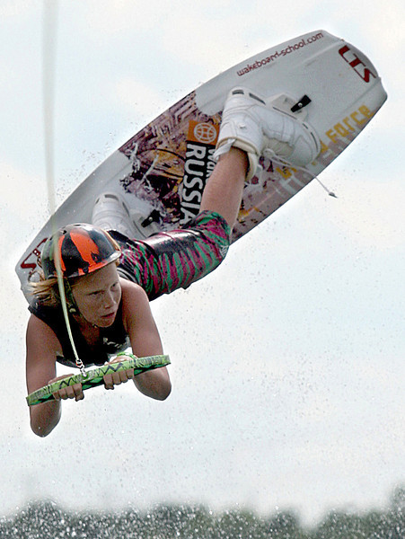 E.L. Hubbard Photography<br /> Noah Flegel, 11, from Lighthouse Point, Fl.,  competes in the 11th USA Wakeboard National Championships  at Eastwood MetroPark in Dayton Friday, July 31, 2009.