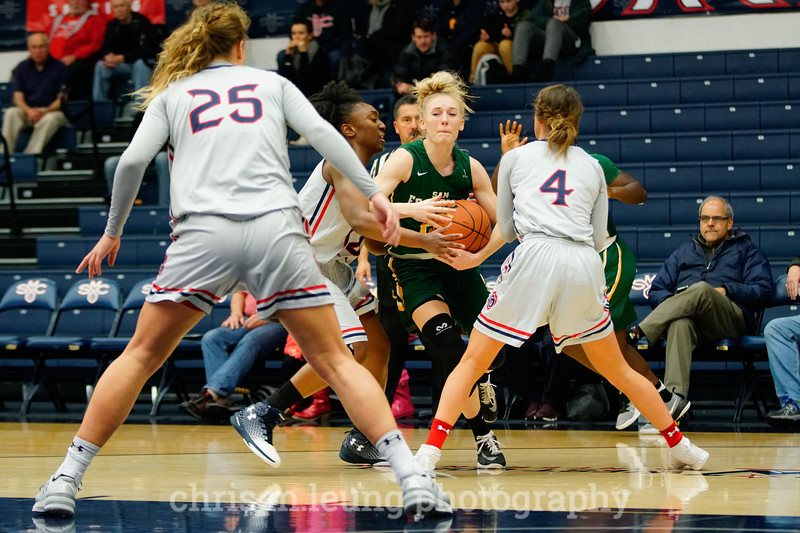 1/7/17: USF WBB vs SMC at McKeon Gym in Moraga, CA.  Image by Chris M. Leung for USF Dons Athletics