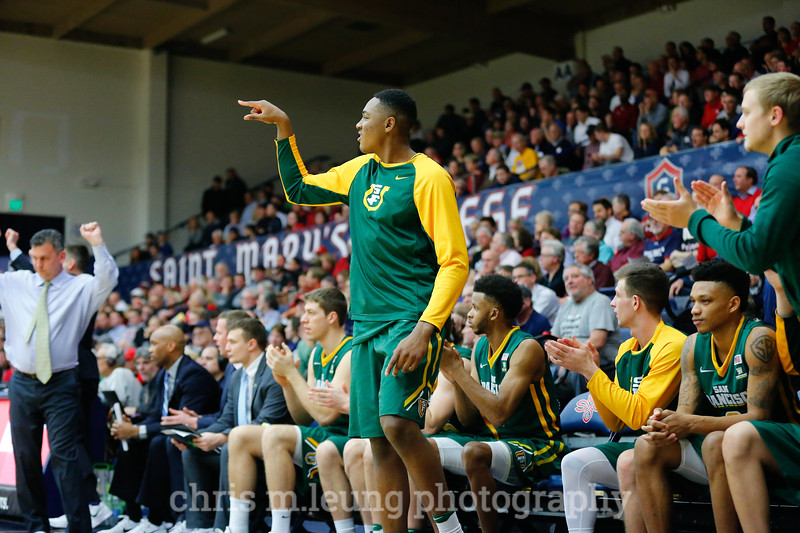 1/26/17: USF MBB vs SMC at McKeon Pavilion in Moraga, CA.  SMC wins 46-66. Image by Chris M. Leung for USF Dons Athletics
