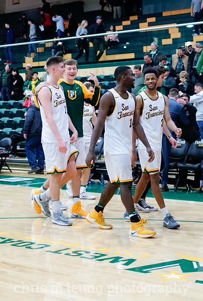 2/2/17: USF MBB vs Pepperdine at War Memorial Gymnasium in San Francisco, CA. Dons win 77-56. Image by Chris M. Leung