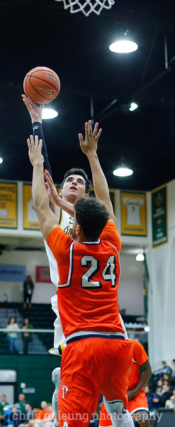 2/2/17: USF MBB vs Pepperdine at War Memorial Gymnasium in San Francisco, CA. Dons win 77-56. San Francisco Dons guard Jordan Ratinho (25). Image by Chris M. Leung