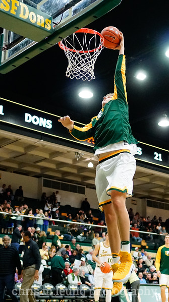 2/2/17: USF MBB vs Pepperdine at War Memorial Gymnasium in San Francisco, CA. Dons win 77-56. San Francisco Dons center Sasha French (33). Image by Chris M. Leung