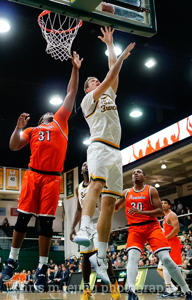 2/2/17: USF MBB vs Pepperdine at War Memorial Gymnasium in San Francisco, CA. Dons win 77-56. San Francisco Dons center Jimbo Lull (5). Image by Chris M. Leung