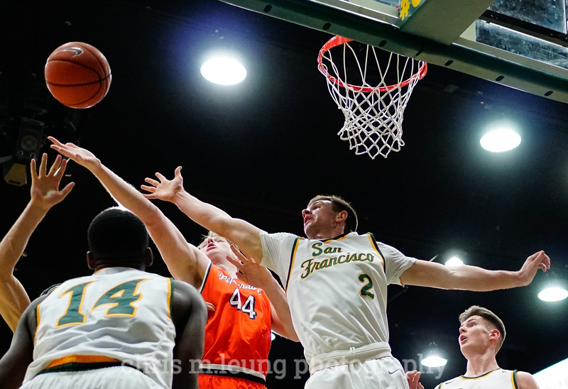 2/2/17: USF MBB vs Pepperdine at War Memorial Gymnasium in San Francisco, CA. Dons win 77-56.San Francisco Dons guard Frankie Ferrari (2).  Image by Chris M. Leung
