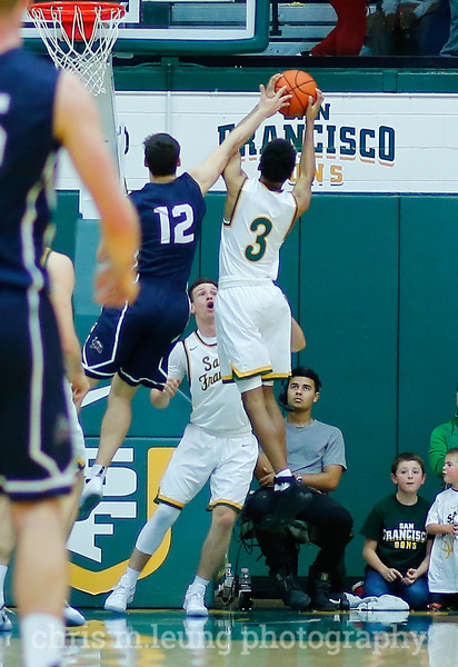 2/4/17: USF MBB vs LMU at the War Memorial Gymnasium in San Francisco, CA. Image by Chris M. Leung for USF Dons Athletics