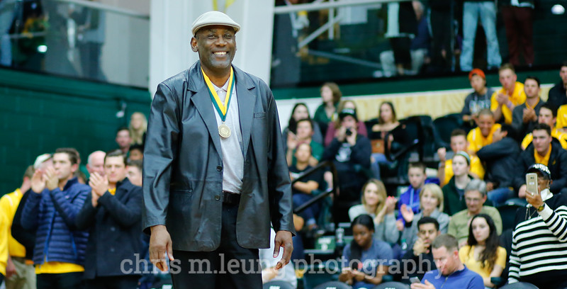 2/4/17: USF MBB vs LMU at the War Memorial Gymnasium in San Francisco, CA. James Hardy, Hall of Fame Inductee . Image by Chris M. Leung for USF Dons Athletics