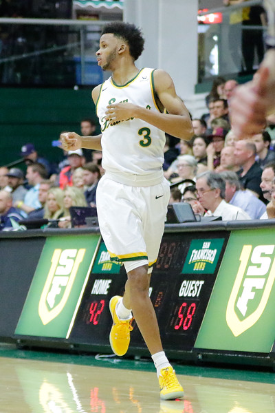 2/11/17: USF MBB vs BYU at War Memorial Gym in San Francisco, CA.  Image by Chris M. Leung for USF Dons Athletics