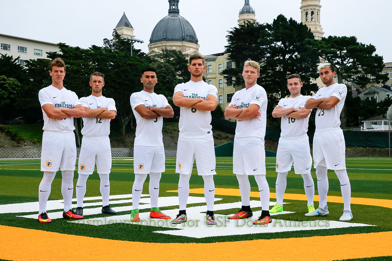 8/10/17: USF MSOC Team Shots at Negoesco Field in San Francisco, CA.  Image by Chris M. Leung for USF Dons Athletics