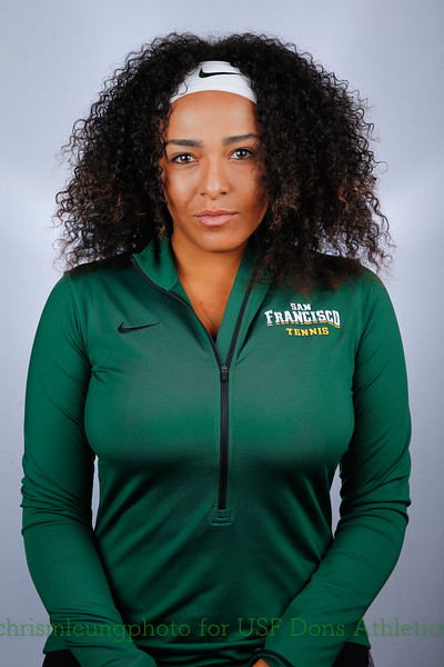 8/28/17: USF WTEN: Shanna Dos Santos at War Memorial Gym in San Francisco, CA.  Image by Chris M. Leung for USF Dons Athletics