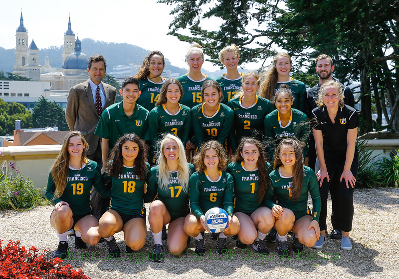 8/17/17: WVB Team Shots at Lone Mountain in San Francisco, CA.  Image by Chris M. Leung for USF Dons Athletics