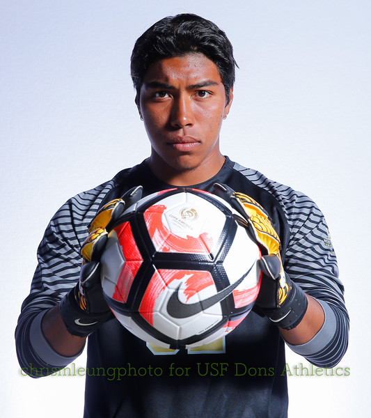 8/13/17 University of San Francisco in San Francisco, CA during USF MSOC Headshots. Chris M. Leung for USF Dons Athletics. #32 Alejandro Munoz