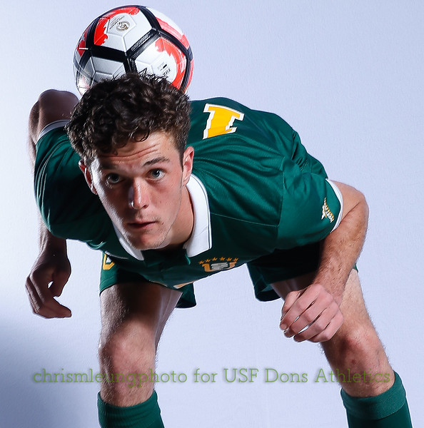 8/13/17 University of San Francisco in San Francisco, CA during USF MSOC Headshots. Chris M. Leung for USF Dons Athletics. #15 Hunter Ashworth