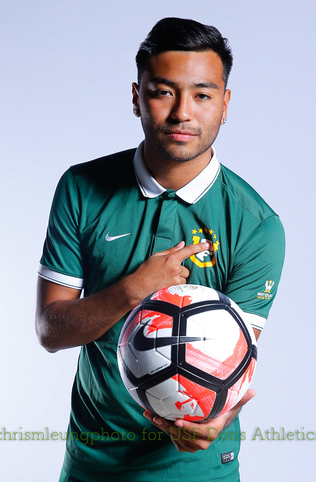 8/13/17 University of San Francisco in San Francisco, CA during USF MSOC Headshots. Chris M. Leung for USF Dons Athletics. #11 Jorge Ruiz