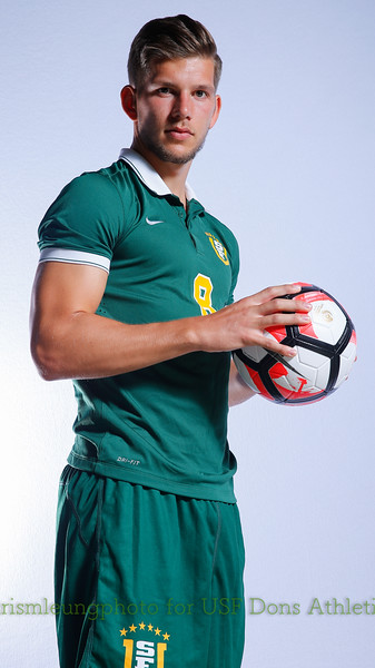 8/13/17 University of San Francisco in San Francisco, CA during USF MSOC Headshots. Chris M. Leung for USF Dons Athletics. #8 Leon Schwarzer