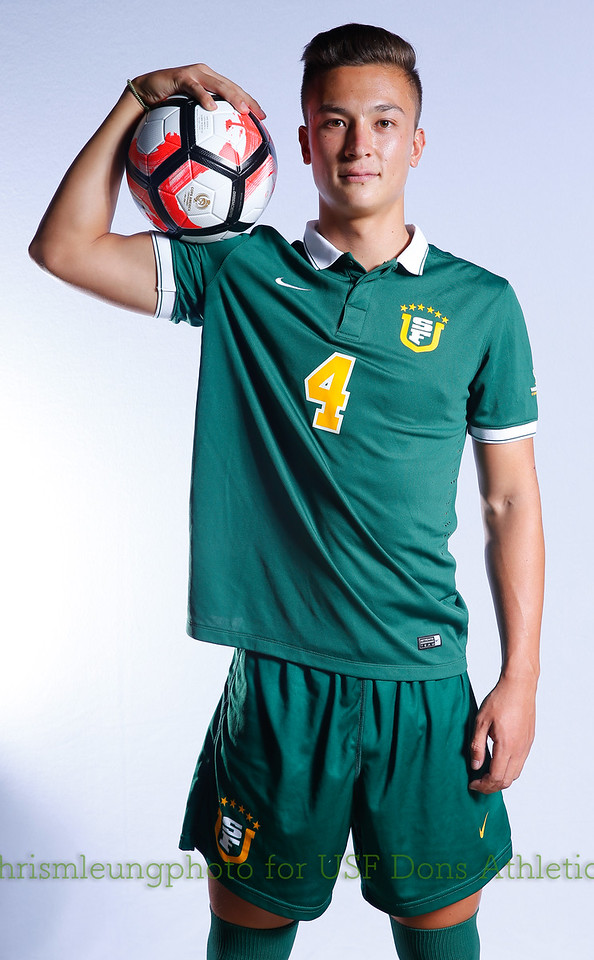 8/13/17 University of San Francisco in San Francisco, CA during USF MSOC Headshots. Chris M. Leung for USF Dons Athletics. #4 Matthew Orr