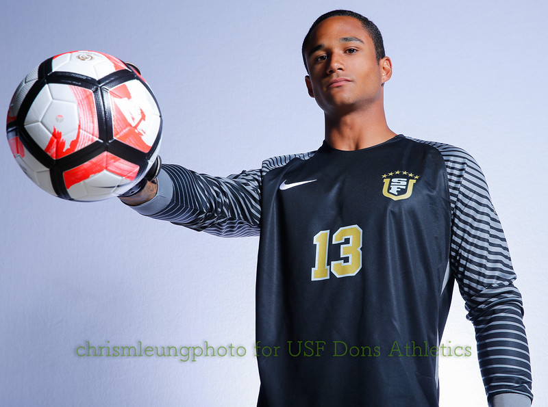 8/13/17 University of San Francisco in San Francisco, CA during USF MSOC Headshots. Chris M. Leung for USF Dons Athletics. #13 Jay Roundtree
