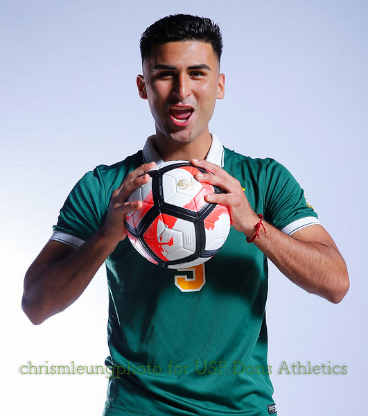 8/13/17 University of San Francisco in San Francisco, CA during USF MSOC Headshots. Chris M. Leung for USF Dons Athletics. #5 Manny Padilla