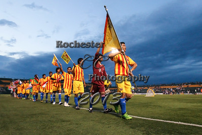 August 2, 2013;  Rochester, NY; USA; Halftime parade during Rochester Rhinos vs. Dayton Dutch Lions at Sahlen's Stadium  Photo: Christopher Cecere