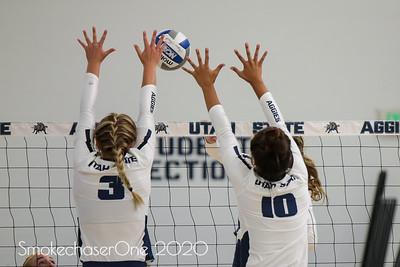 USU Volleyball Blue & White Scrimmage 08_20_19