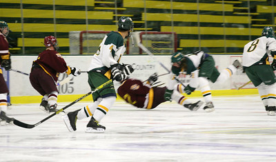 UVM vs BC club hockey game at the Gut.