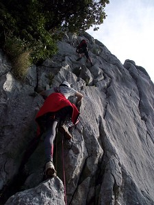 Ugolini BS - Corso Introduzione Alpinismo 2010 - Uscita in ambiente alpino   (thanks to Stefano Spotti)