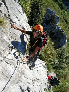 Ugolini BS - Corso Introduzione Alpinismo 2010 - Ferrata (thanks to Dalbo)
